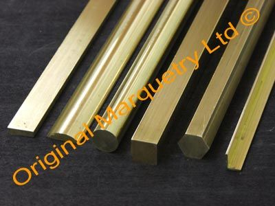 Original Marquetry Ltd Inlay Brass Strips Brass Sheet