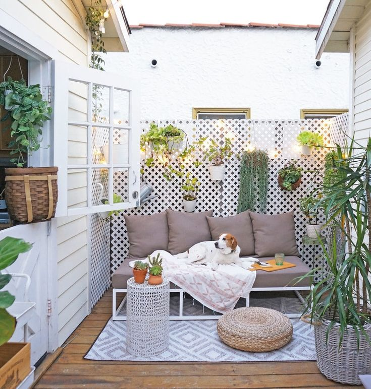 Small Patio Garden Ideas here is a collection of modern backyard designs where you can enjoy without leaving the comforts small courtyard gardenssmall You Wont Believe This Gorgeous House Is Only 362 Square Feet Patio Gardenspatio Ideasbalcony