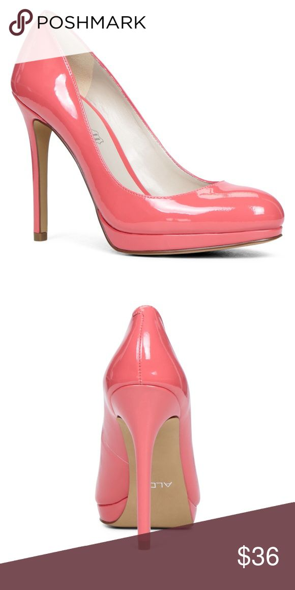 Aldo Peach Heels Aldo Peach/Pink Heels!!! Size 7. Never worn! Approx. 4.5 inch heel. Cushioned inside. Very comfortable! Only selling because these are too high of a heel for me to wear to work! 👠 Aldo Shoes Heels