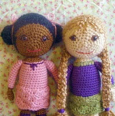 Crochet doll pattern. I made one and used fluffy yarn. My girl looked ugly. N...