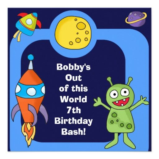 374 best images about Outer Space Birthday Party Invitations on – Space Party Invitations