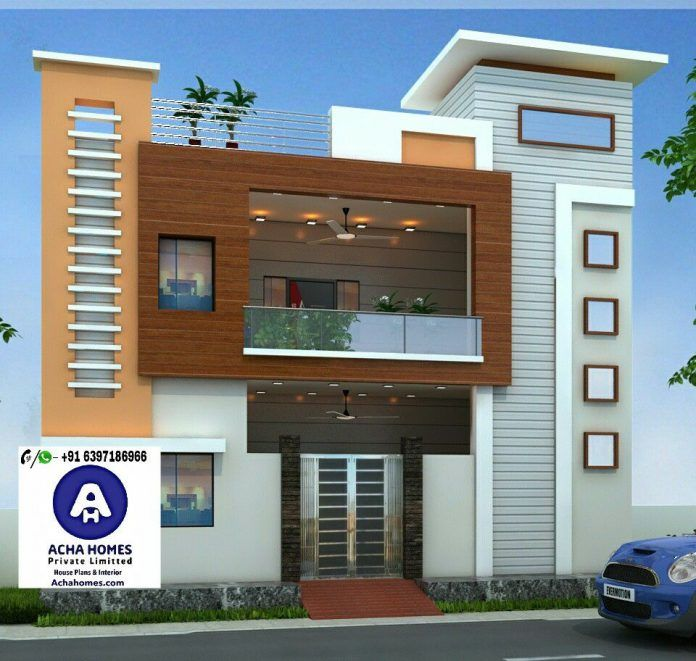 24 Feet By 40 Home Plan With 2 Bedrooms House Front Design Small House Elevation Design Duplex House Design