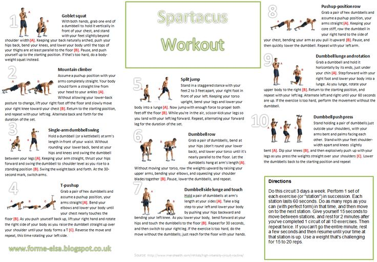 photo relating to Spartacus Workout Printable called Spartacus Exercise 3.0 Pdf