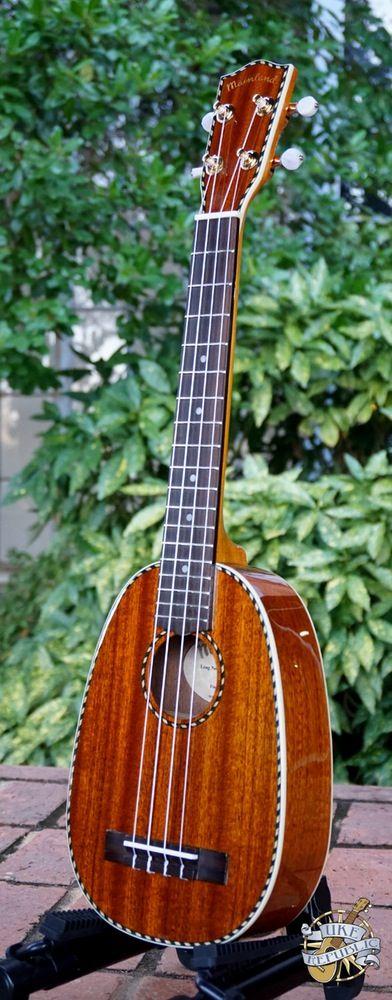 Image of Mainland Solid Mahogany Long Neck Concert Pineapple Ukulele