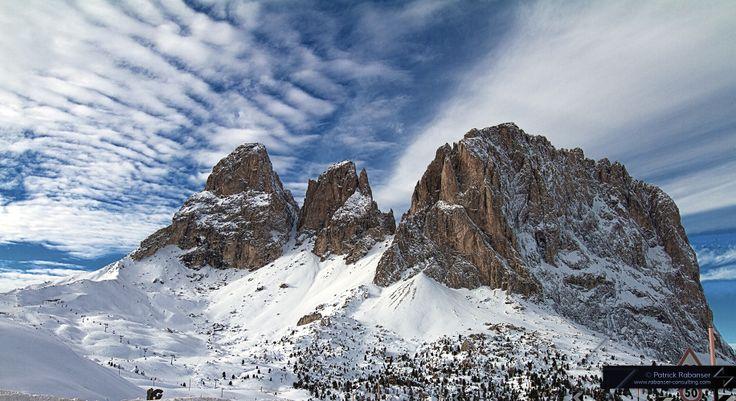 HDR of Sassolungo from Passo Sella, Alto Adige