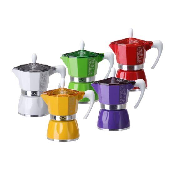 컬러풀한 모카포트로 색다른 커피타임을 즐겨보세요. 신뢰할 수 있는 이태리 브랜드 GAT사의 산뜻한 컬러감이 돋보이는 커피포트