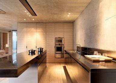 Küche aus Sichtbeton und Holz - Küchen in Architektenhäusern 15 - [SCHÖNER WOHNEN]