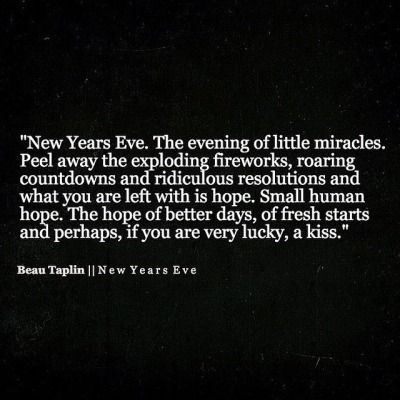 Beau Taplin | New Years Eve