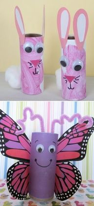 Toilet Paper Roll Crafts.  I knew I saved those for a good reason