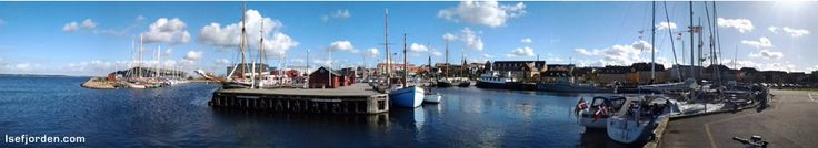 Panorama Photo from the old habour in Holbaek.