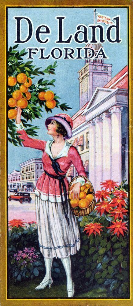 DeLand, Florida (vintage advertisement)