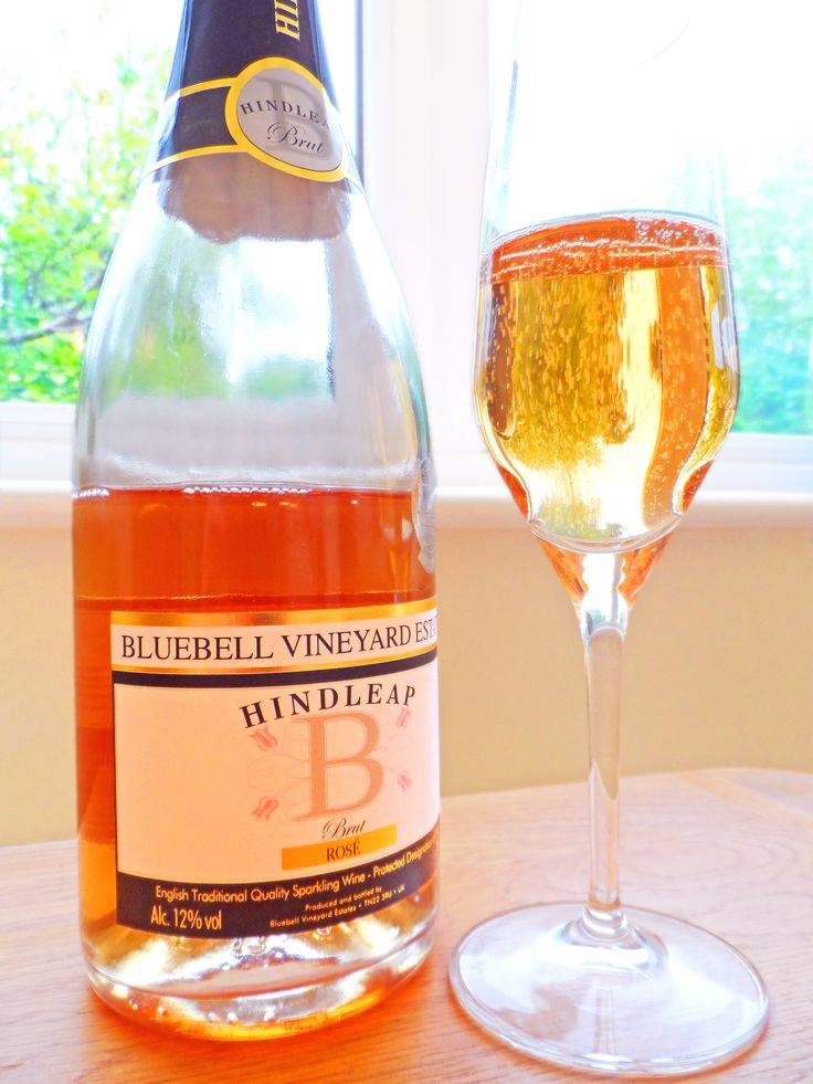 Bluebell Brut Rosé in the Style champagne glass.
