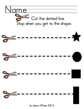 Straight Line Cutting Practice | Fine motor skills(cutting) and pre ...