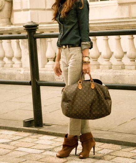 pants, handbag, top-- perfect