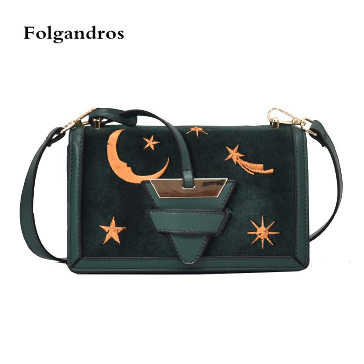 Luxury Handbags Moon Star Embroidery Women Flap Bags Designer Messenger Bag Velvet Chain Crossbody Bags for Women Bolsa Feminina-in Shoulder Bags from Luggage & Bags on Aliexpress.com | Alibaba Group