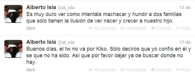 YOCMAGAZINE: ¿Qué pensara después de saber la verdad?... Alberto Isla no cree que fuera Kiko quien puso los mensajes en twitter criticándolo