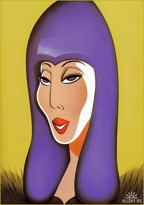 CherCaricatures Art, Pop Art, Caricatures Portraits, Art Caricatures 01, Expensive, Caricatures Musicians, Robert Risko, Pencil Art, Celebrities Caricatures