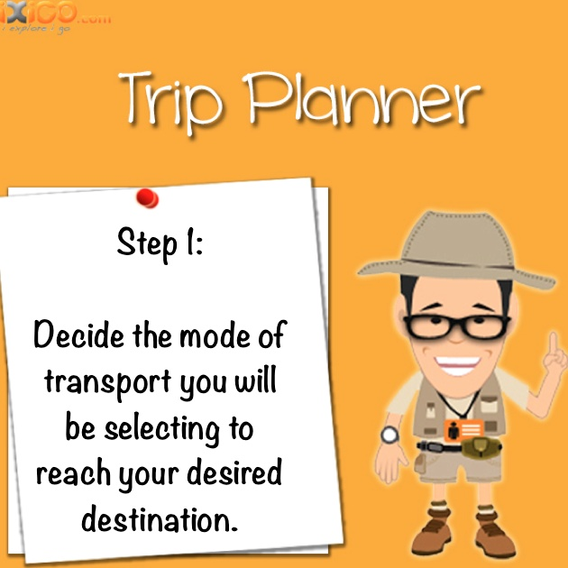 Step 1: Choose the right mode of transport. #iXiGO #Travel #TripPlanner