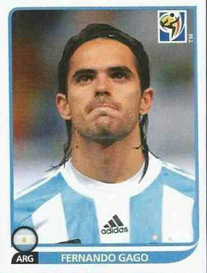Fernando Gago of Argentina. 2010 World Cup Finals card.