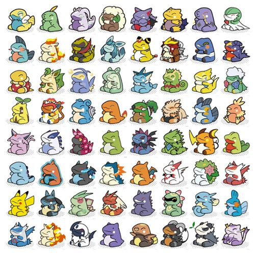 Pokémon Drawn in the Style of Substitute THIS IS SO CUTE <3 <3 <3