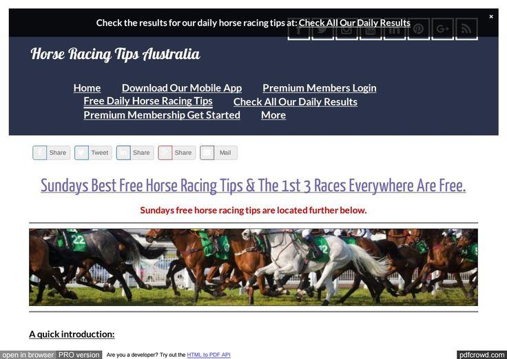 Sundays April 30th Free Horse Racing Tips