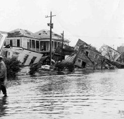 hurricane carla 1961- Category 4 Hurricane Carla made landfall between Port O'Connor and Port Lavaca, Texas with a storm surge of 22 feet penetrating 10 miles inland.