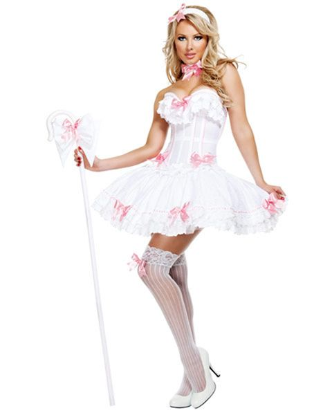 I wanna be little bo peep this year and Bella be my little sheep