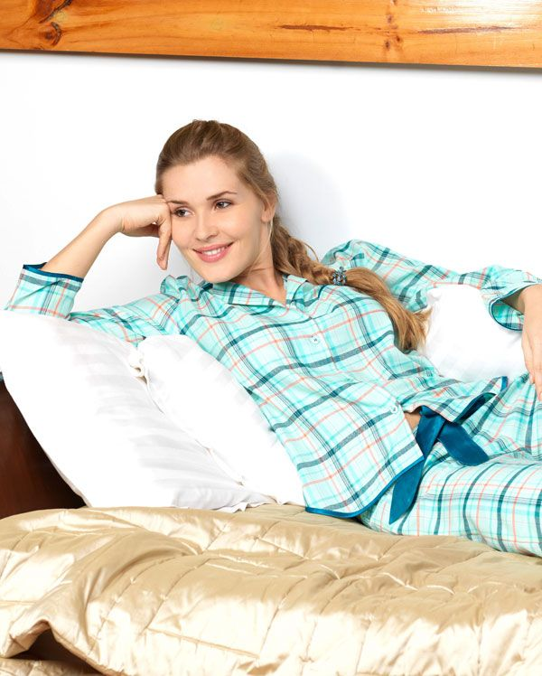 Sea Breeze Brushed Check Pyjamas