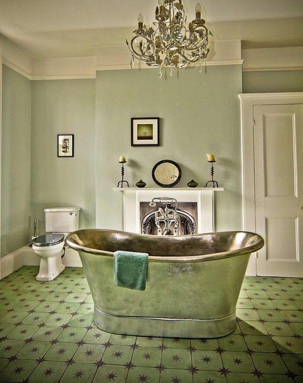 Badezimmer Gestaltungsideen In Trendfarben Rot Und Grun Badezimmer