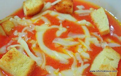 cream of tomato soup kremalı domates çorbası