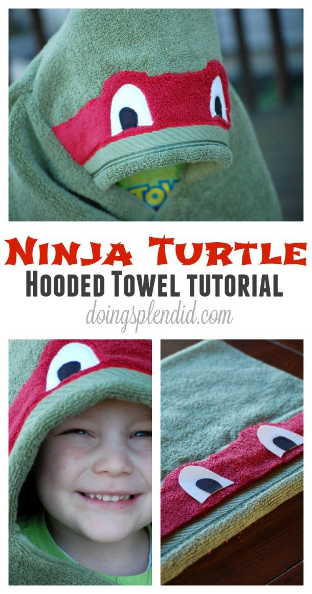 Just in time for the new TMNT movie...the Ninja Turtle Hooded Towel! A complete step-by-step guide to create your own Ninja Turtle Hooded Towel. FREE pattern included! :)
