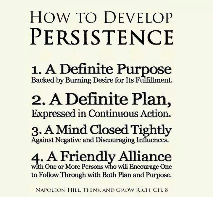 persistence vs chasing