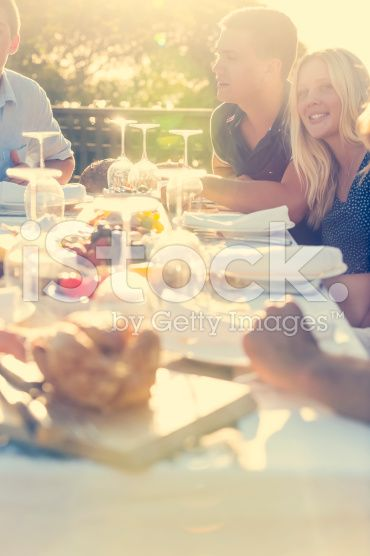Group of young people eating outdoors. royalty-free stock photo
