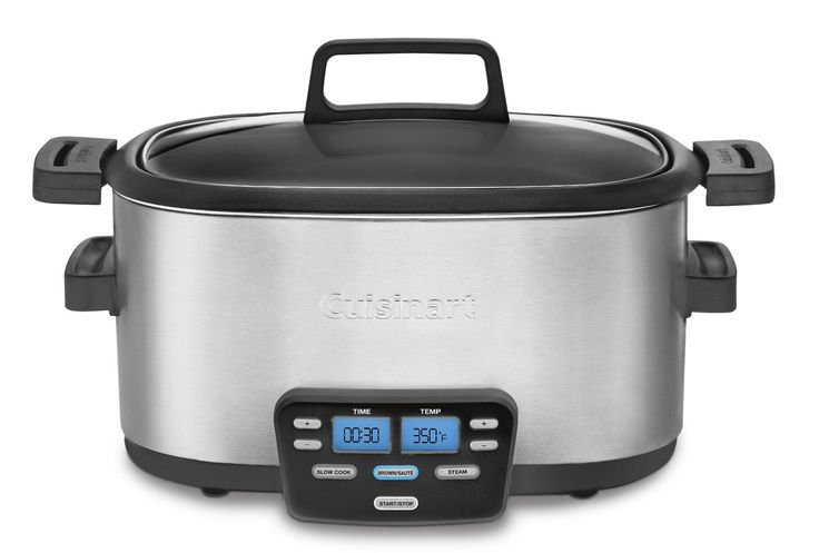 With the Cuisinart Multicooker you have a slow cooker, steamer and saute pan in one.  Now you can brown meat and then finish in the slow cooker, and finally add vegetables all in one pot!