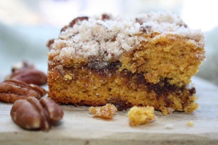 You will love this moist {low FODMAP & gluten free} pumpkin crumb cake adorned with a delicious pecan crumble topping. The original recipe inspiration can be found on the King Arthur Flour site…