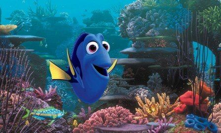 Dory is a Regal Blue Tang: Finding Nemo