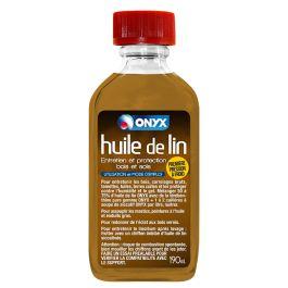 <p>L'Huile de lin Onyx est une huile de lin crue de qualité, 100% issue de graines de lin, obtenue par première pression à froid.</p> <p>Elle permet d'entretenir les bois, carrelages bruts, tomettes, tuiles, terres cuites et dallages et de protéger ces différents supports contre l'humidité et le gel.</p><br><p>L'Huile de lin Onyx s'utilise aussi pour assouplir les mastics, peintures à l'huile et enduits gras.</p><br><p>Convi...