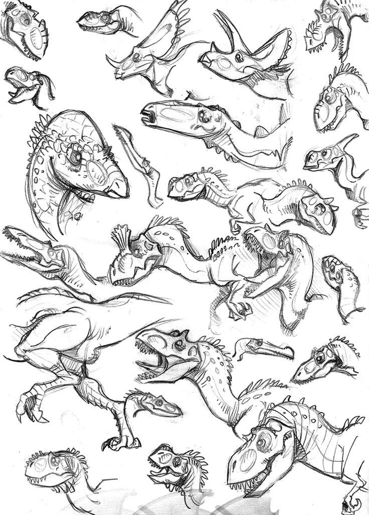 sketch dinos 2 by marciolcastro on DeviantArt
