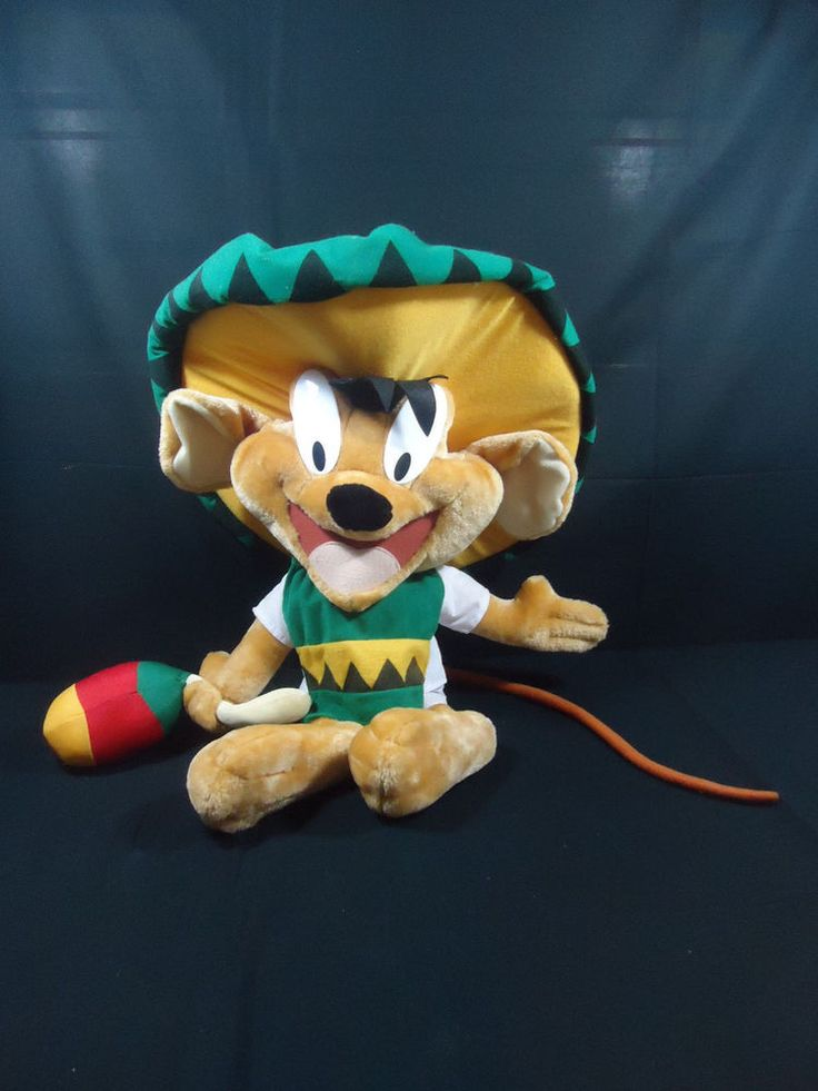 Large Six Flags Looney Tunes Speedy Gonzales Mouse Plush