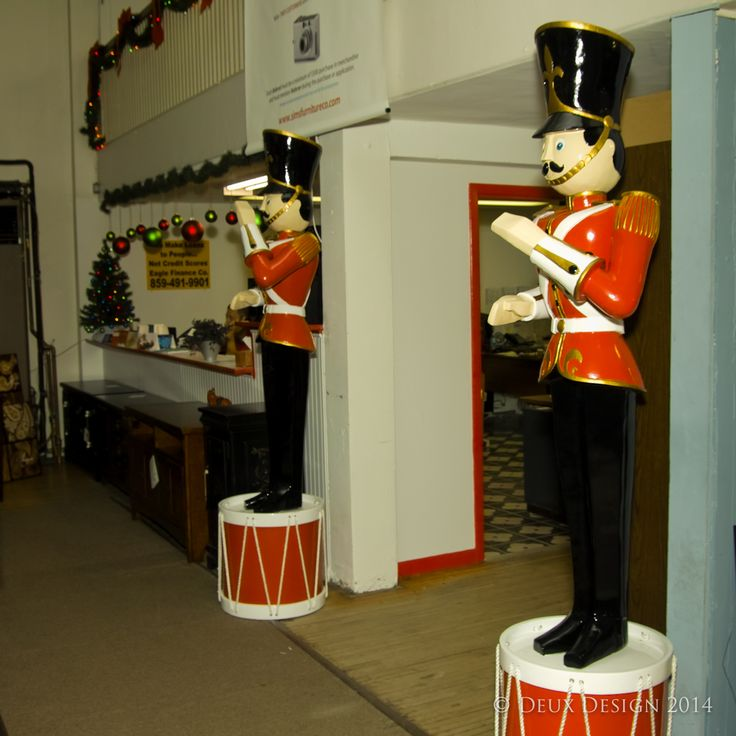 For 2014, We Added Two Tin Soldiers On Drums. They Stand Nearly Eight Feet