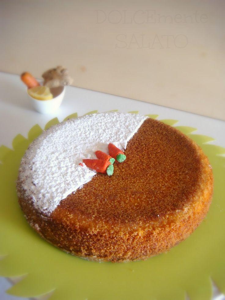 torta soffice carota e zenzero senza glutine