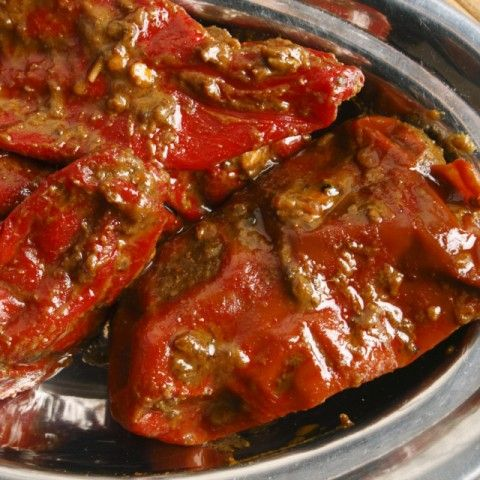Stuffed Red Chilli Pickle Recipe
