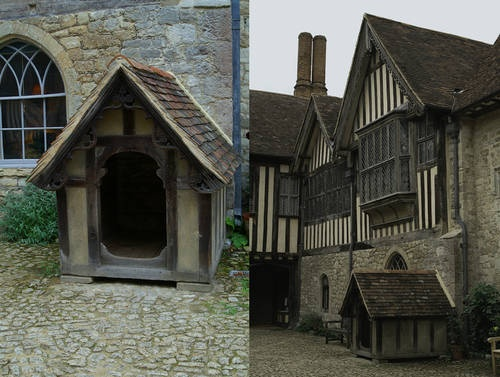 Dog House - Late Victorian dog house was built for Dido, a St. Bernard, the pet of Ightham Mote's penultimate private owner. It is the world's only Grade I listed dog house.
