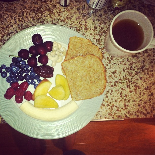 Breakfast & herbal tea. 2 slices ezekiel sprouted grain complete Protein Bread  #ezekiel #eatclean #woman #women #womenshealth #alkaline #alkalinediet #fruit #nuts a little bit of yummy  #butter on bread  Breakfast & herbal tea. 2 slices ezekiel sprouted grain complete Protein Bread  #ezekiel #eatclean #woman #women #womenshealth #alkaline #alkalinediet #fruit #nuts a little bit of yummy  #butter on bread