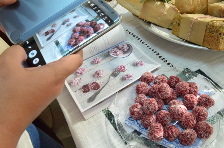 Middle Eastern Beetroot balls sampled at a #Thermomix Demo party in Dubai
