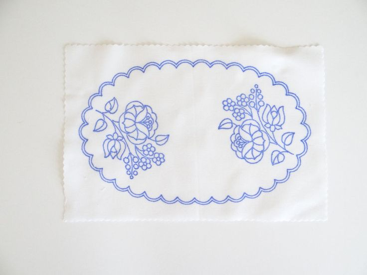 Kalocsa oval doily pattern print from Hungary New 10.5'' x 6.5 '' DIY in Collectibles, Linens & Textiles (1930-Now), Lace, Crochet & Doilies   eBay