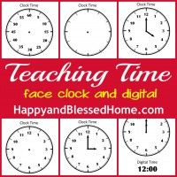 Free Printable. Click on the picture in the middle of the page to download. Tell Time Preschool Learning