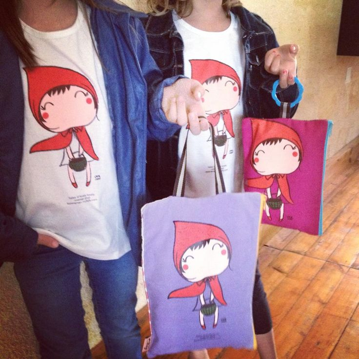 tee-shirt le petit chaperon rouge/ little red riding hood tee-shirt   Oneman brand www.biancapeople.fr