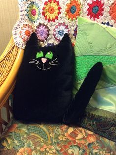I made Wilbur the cat for World Book Day at school this year (2015). I also dressed up as Winnie the Witch, but am not going to show that photo. Thanks to my friend Sandra for the fabric!
