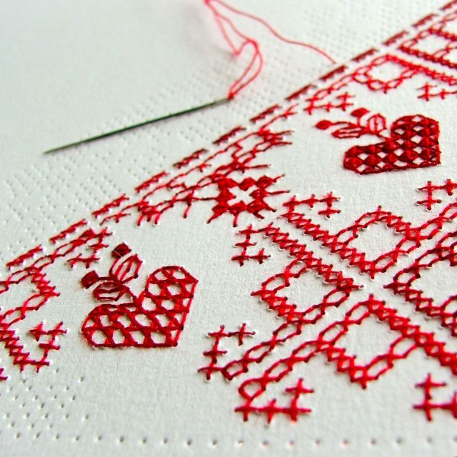 perforated love letter WIP by Smallest Forest, via Flickr